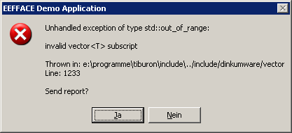 invalid vector<> subscript - reloaded